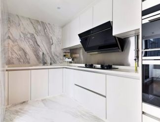 厨房地砖新中式效果图
