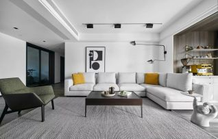 現代簡約三房兩廳黑白灰設計