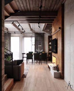 2019工业客厅装修设计 2019工业走廊效果图