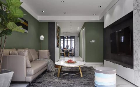 2019简约起居室装修设计 2019简约沙发设计图片