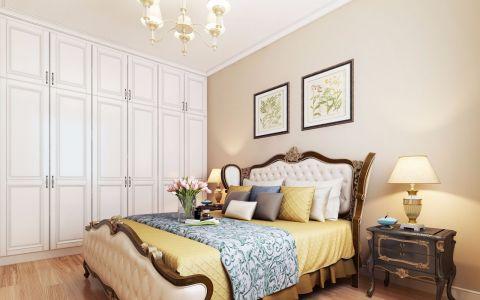 欧式卧室背景墙装潢效果图
