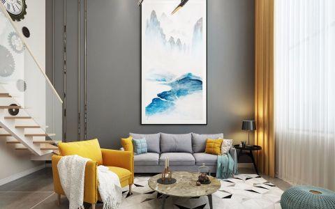 2019现代欧式110平米u乐娱乐平台设计 2019现代欧式三居室u乐娱乐平台设计图片