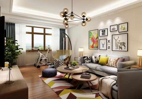 2019现代简约90平米装饰设计 2019现代简约二居室装修设计
