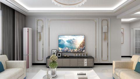 后现代客厅电视背景墙图片