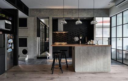 2019中式厨房装修图 2019中式厨房岛台装饰设计
