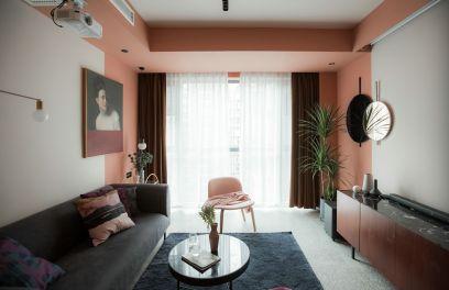 現代北歐風藝術設計92平套房裝修效果圖