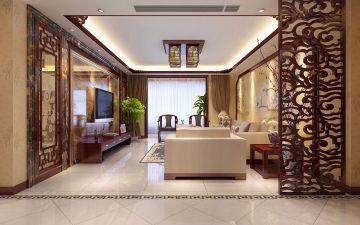 雨润星雨华府170平米三居室中式风格效果图