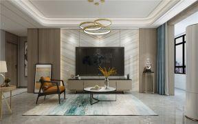 133平三居现代风格客厅装修效果图