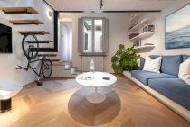 現代簡約50平米改造小戶型客廳案例圖