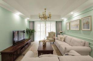 2020美式110平米装修设计 2020美式四居室装修图