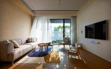 145平米日式简约风住宅装修效果图