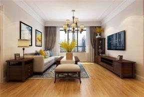 客厅吊顶新中式家装设计