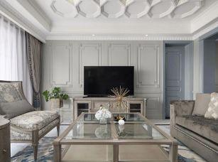 浪漫法式家居三室裝修設計效果圖