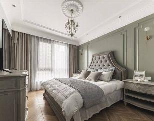 2020法式起居室装修设计 2020法式背景墙装修设计图片