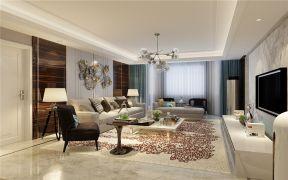 170平三居现代风格客厅装修效果图