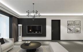 128平三居现代风格客厅装修效果图