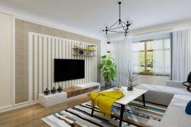 中城嘉汇简约风格90平小户型客厅效果图