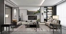 2019新中式150平米效果图 2019新中式套房设计图片