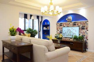 2019地中海90平米装饰设计 2019地中海三居室装修设计图片