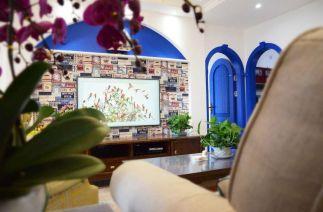 2019地中海客厅装修设计 2019地中海照片墙装修效果图大全