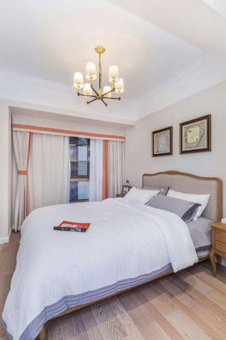 卧室墙面米色床效果图大全