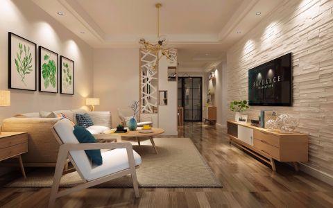 100平簡約北歐風格兩居室客廳案例欣賞