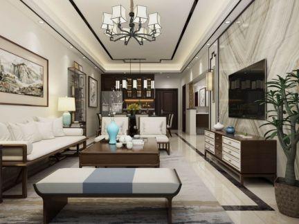 2019新中式90平米装潢设计 2019新中式二居室装修设计