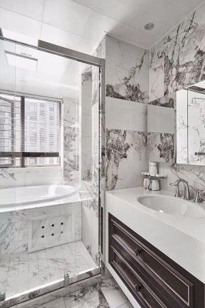 2019新中式卫生间装修图片 2019新中式浴室柜装修图片
