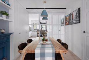 餐厅原木色餐桌案例图