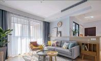 87平簡歐風格二居室客廳案例賞析