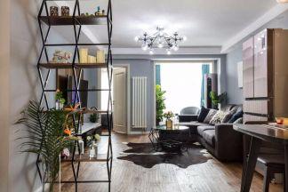 纯净简约原木色地板砖装修实景图