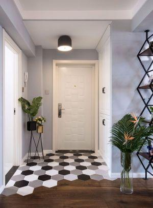 客厅白色走廊装修效果图欣赏