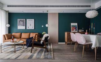 90平米北欧风小户型客厅装修效果图