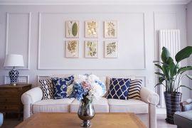2019法式客厅装修设计 2019法式照片墙装修效果图大全