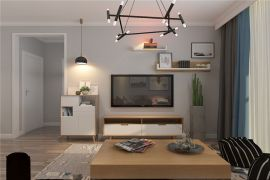 2019北欧客厅装修设计 2019北欧电视柜装修效果图片