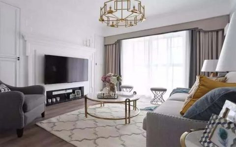 115平简美风格三居室装修效果图