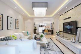 2019現代90平米裝飾設計 2019現代套房設計圖片