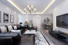 2019现代繁复90平米装潢设计 2019现代繁复二居室装修设计