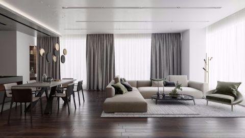 2019美式110平米装修设计 2019美式四居室装修图