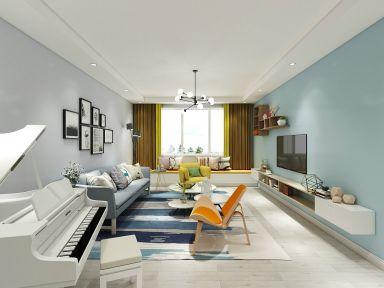 125平米北欧风格三居室10万装修效果图