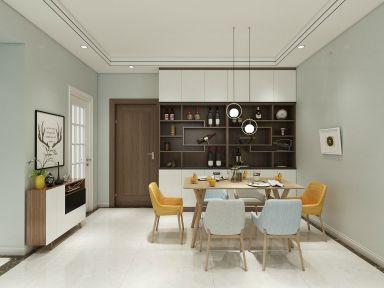 115平米现代风格三居室10万效果图