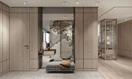 现代简约客厅衣柜案例图片