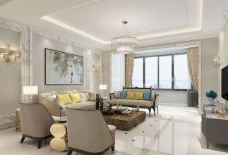 2019现代中式150平米效果图 2019现代中式四居室装修图