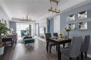 客廳窗簾美式裝修實景圖