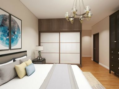 卧室衣柜中式装修设计