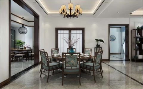 2020新中式90平米裝飾設計 2020新中式二居室裝修設計