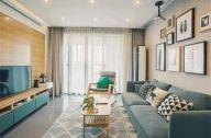 83平米清新浪漫北歐風格家居三房效果圖