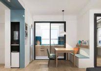 简约现代风格110平米三居室餐厅效果图?