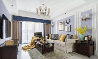 2019美式90平米装饰设计 2019美式三居室装修设计图片