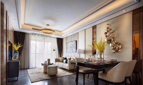 110平米美式風格三房客廳效果圖